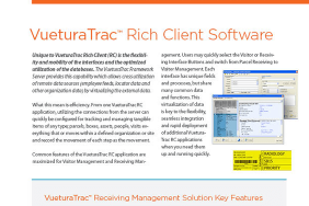 VueturaTrac Rich Client (RC) Software