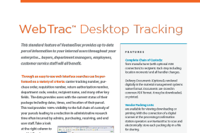 VueturaTrac WebTrac™ Desktop Tracking