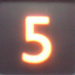 illuminated number five